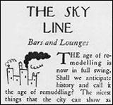 the sky line